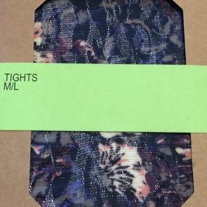 Urban Outfitters Navy Floral Forest Pattern Tights